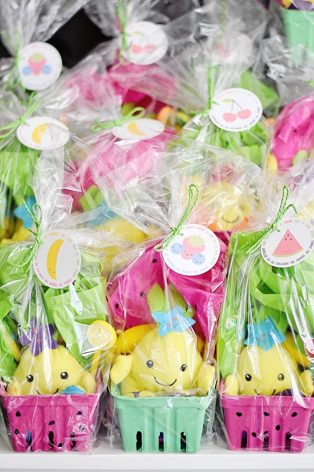 Ariella's Tutti Frutti 5th Birthday! - Project Nursery Party Favors, Kawaii Pineapples, Favor Tags by Emily Entertains Etsy Shop
