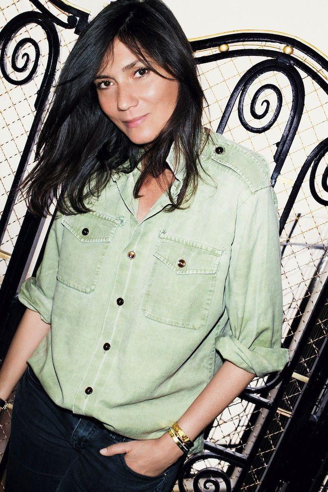 Emmanuelle Alt Khaki Shirt