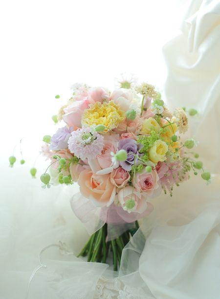 9シェアブーケ サンスエサヴール様へ  絆~KIZUNAをシェアの画像:一会 ウエディングの花