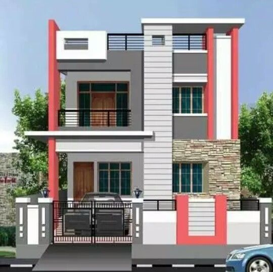Front Elevation Two Storey Building In Hyderabad : Best house elevation images on pinterest home