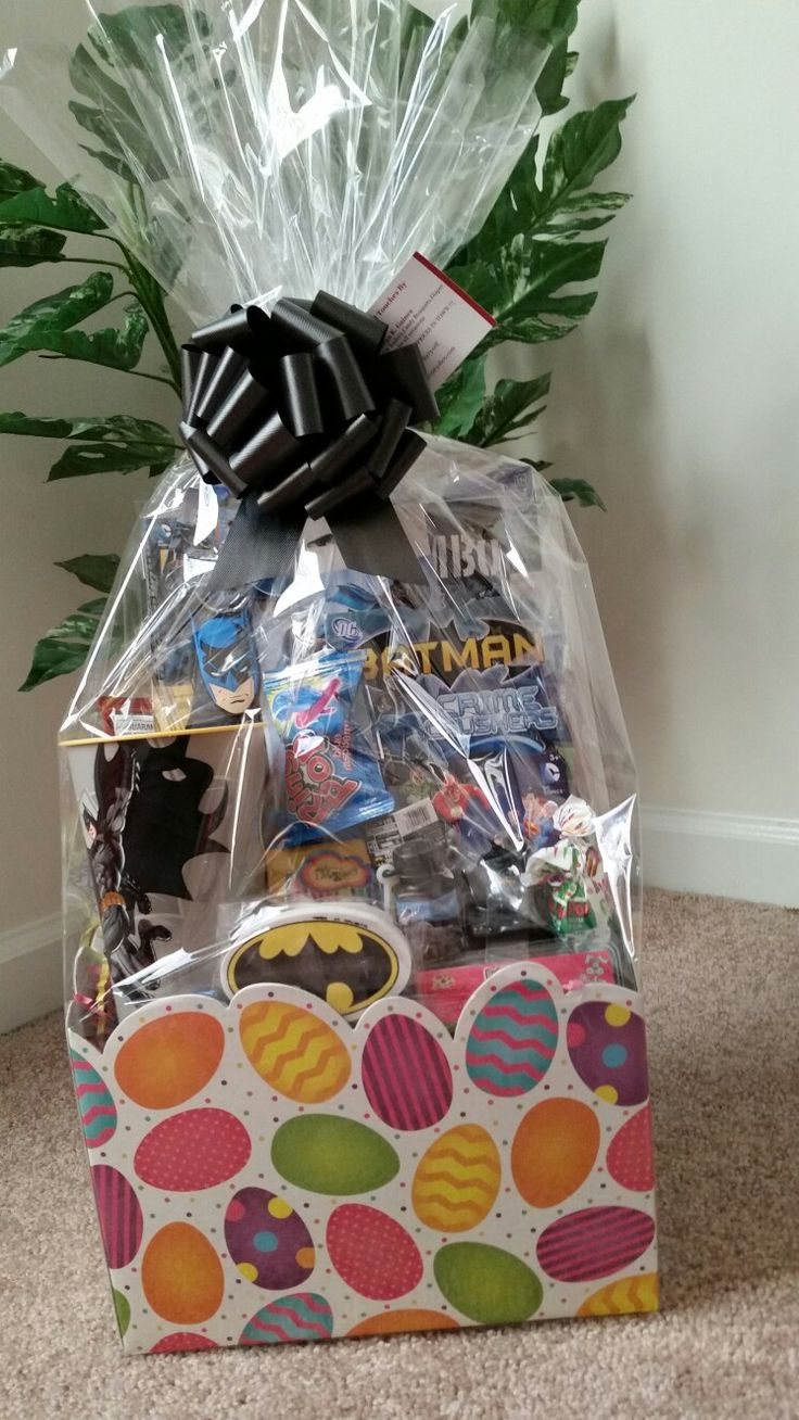 58 best gift baskets images on pinterest gift basket gift batman easter basket 30 dollars just in time please email at tkg0205yahoo negle Choice Image