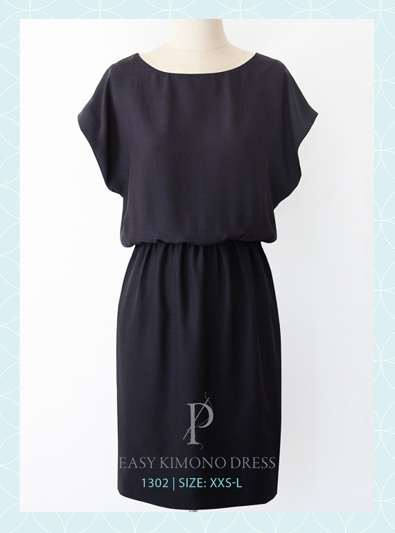 short sleeved dress pattern.  with a white/beige linen striped fabric, this would be super cute for summer!