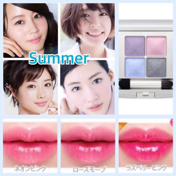 パーソナルカラー【Summer】さんの特徴✨ Summerに該当される方は、上品、エレガントなどのキーワードがポイント。透明感を感じさせる青みカラーが肌馴染みが良く、シアーまたはややマットな質感がお似合い✨ これからの季節なら、透け感のある桜色ピンクやパステルグリーン、また紫陽花のようなブルーやパープルなどもSummerさんの魅力をさらに引き立たせます✨ メイクは清涼感を感じさせるパステルカラーや青みピンク、ローズなどをふんだんに取り入れて、上質な女性らしさを コーラル系やオレンジなどの黄みの強い色や、鮮やかすぎる色はくすんでみえてしまう方が多く苦手です ご自身のパーソナルカラーを知れば、〝トレンドも取り入れた自分らしいメイク〟が叶います✨ #美容#化粧#化粧品#コスメ#メイク#今日のメイク#婚活#イメージコンサルタント#似合う色#時短メイク#チーク#アイメイク#メイクレッスン#ヘアメイク#イメチェン#名古屋#東京#パーソナルカラー#結婚式#クボメイク#THREE#RMK#ルナソル#アディクション#マキア#美的#石原さとみ#ガッキー#cchanel