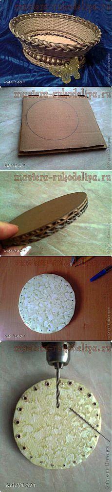 плетение корзинки   Самоделкино