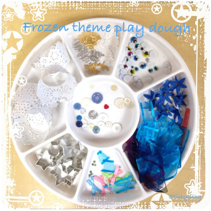 'Frozen' theme play dough invitation
