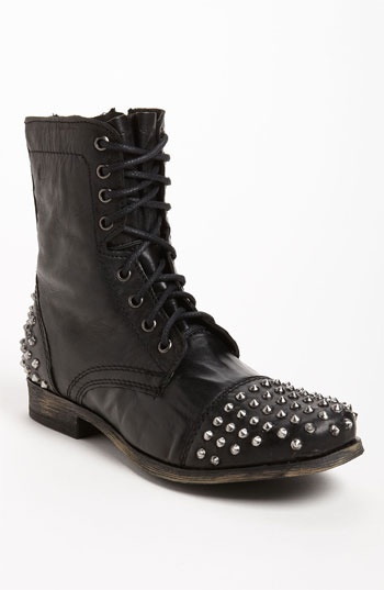 Steve Madden Trroy Studded Boot in Black for Men (black/ studs) - Lyst
