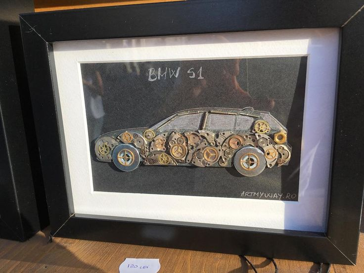 BMW S1 Car made from watch mechanical parts  #tableau #mechanical #watch #bmw #art #instagood #bucharest