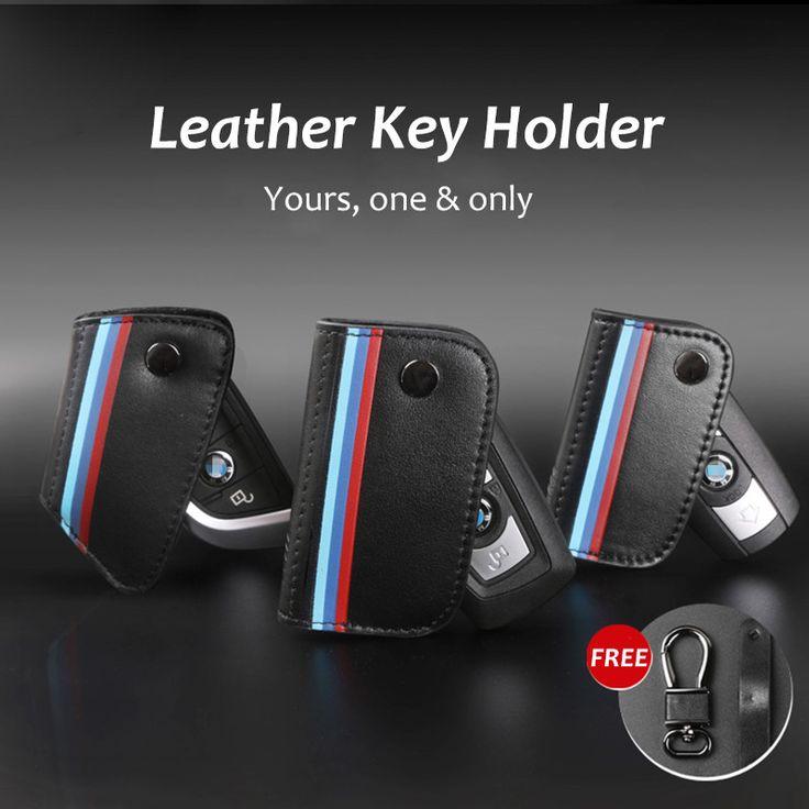 Genuine Leather for BMW X1 X3 X5 X6 E46 E90 F10 F30 Car-Styling Holder Wallet ///M Key Bag Key Cases Christmas Gifts 2016