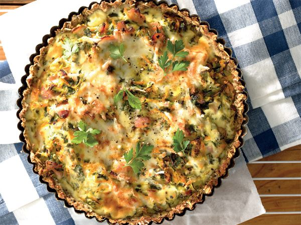 Bacon Quiche. A flavorful quiche made with bacon and it could be served for brunch or lunch.