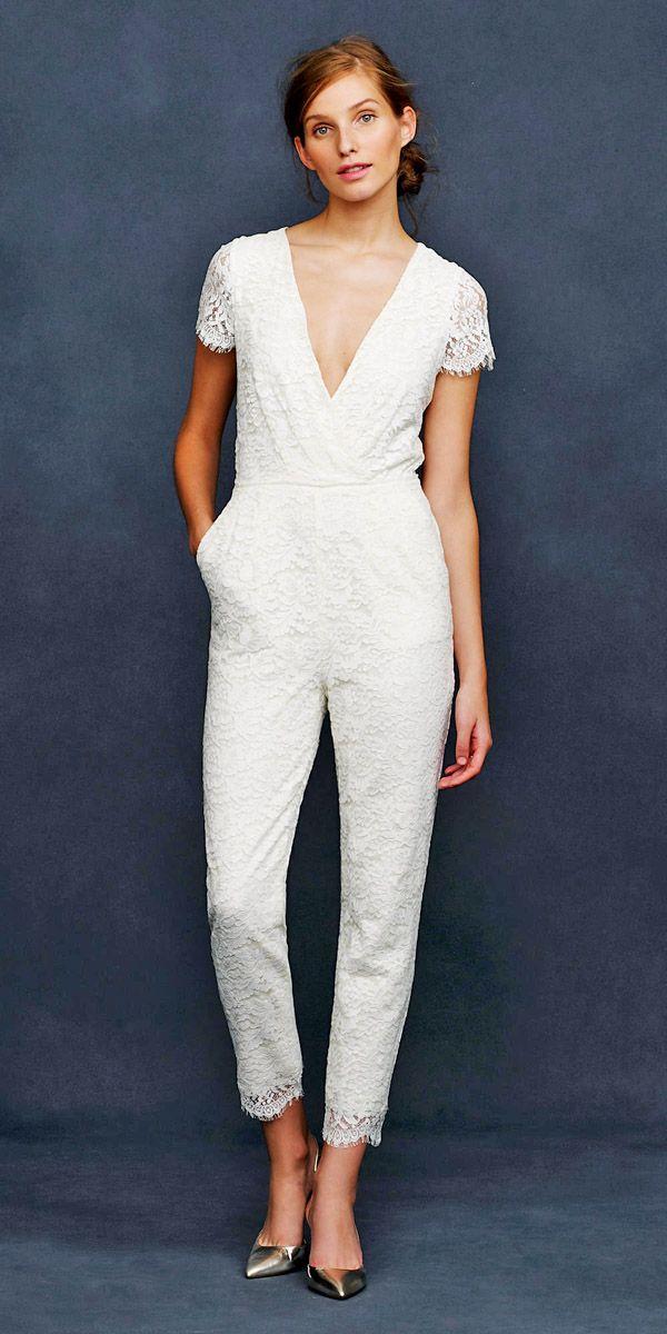 Wedding Pantsuit Ideas And#8211; Modern Bridal Outfits ❤ See more: http://www.weddingforward.com/wedding-pantsuit-ideas/ #weddings