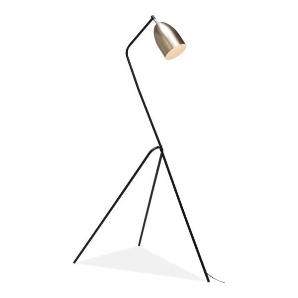 Grasshopper Metal Floor Lamp Black And Brushed Brass Metal Floor Lamps Floor Lamp Black Floor Lamp