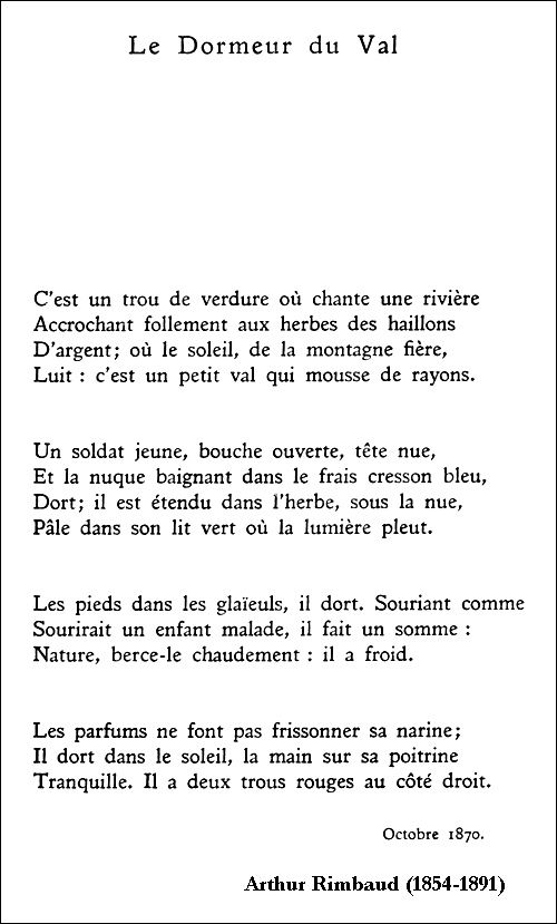 17 best images about french learning on pinterest useful - Lecture analytique le dormeur du val arthur rimbaud ...