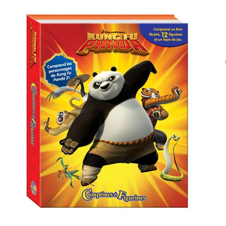 Comptines et Figurines - Kung Fu Panda 3 - 1 coffret-livre illustré de 10 pages de 25 x 20 cm, couverture rigide, 12 figurines, 1 tapis de jeu de 60 x 90 cm. -  Age : 3 ans et plus -  Référence : 77352 #Jeux #Jouet #Enfant #Famille