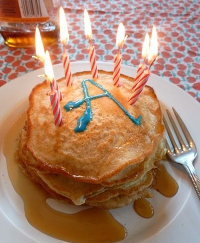 Great idea for birthday breakfast!