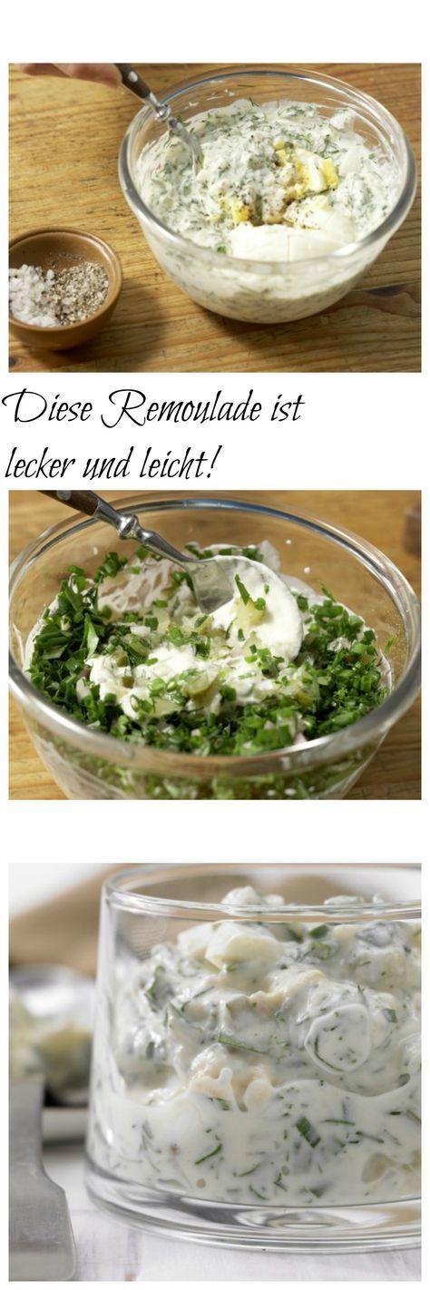 Rezept Remoulade - Der Saucenklassiker auf die leichte Art: mit viel Joghurt und Kräutern: Remoulade – smarter (Grundrezept)   http://eatsmarter.de/rezepte/remoulade-smarter