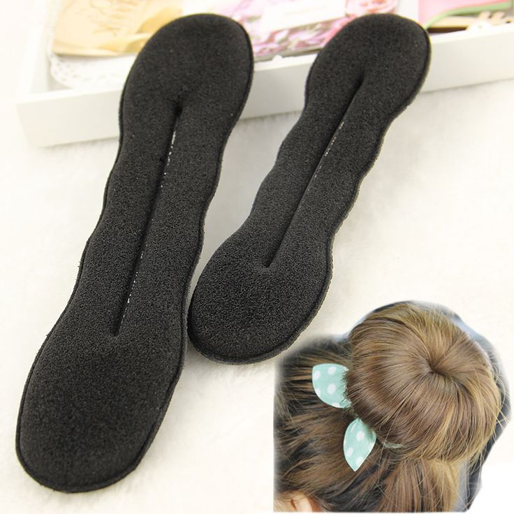 2 stks Kwaliteit Vrouwen Magic Foam Spons Foam Twist Hair Disk Haren Band Tool Quick Messy Bun Opgestoken Hoofddeksels Accessoires