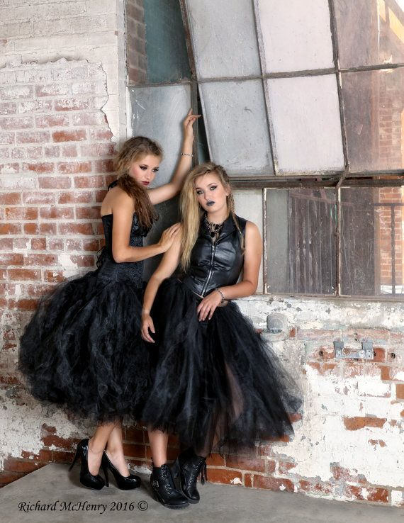 Mujeres falda té longitud adulto negro tutu, gorhic novia tutú, tutú, tutú, falda de halloween, disfraz, vestido de fiesta, tutu negro de longitud de té