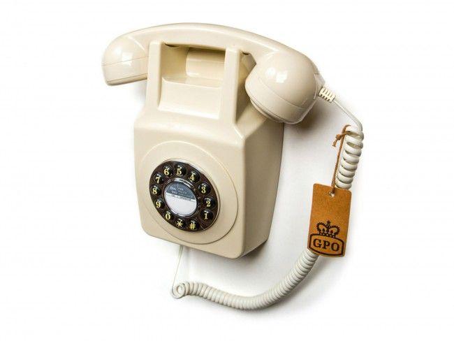GPO 746 Muurtelefoon Ivoor - Telefonie - 123platenspeler.nl
