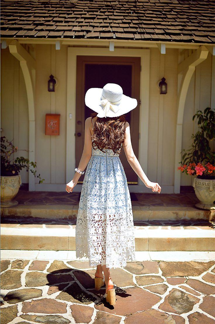 Dabuwawa 2016 летнее платье бренды высокой талией мода взлетно посадочной полосы винтаж сексуальная макси кружева платья розовый синий купить на AliExpress