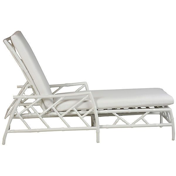 Coco Chaise White Sunbrella Acrylic / Lucite Outdoor Chaise Longues (1,345 CAD) ❤ liked on Polyvore featuring home, outdoors, patio furniture, outdoor loungers & day beds, white, sunbrella outdoor furniture, outdoor patio furniture, outdoor furniture, white patio furniture and outside patio furniture
