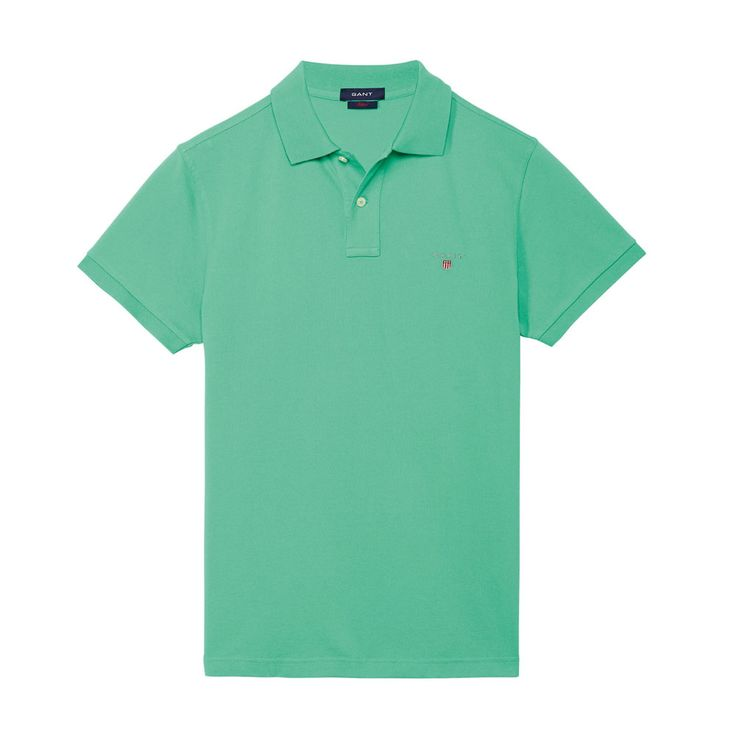 Gant Polo GANT SOLID Green T-Shirt - 9 #GantPolo
