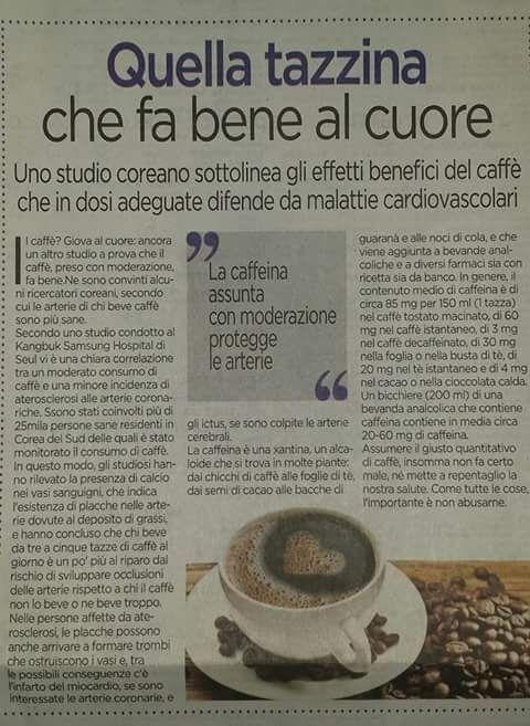 CAFFE ' : FA BENE AL CUORE … CONFERMATO DA STUDI E ALLORA …. BUON CAFFÈ ;) A FRAPPE ' ♥