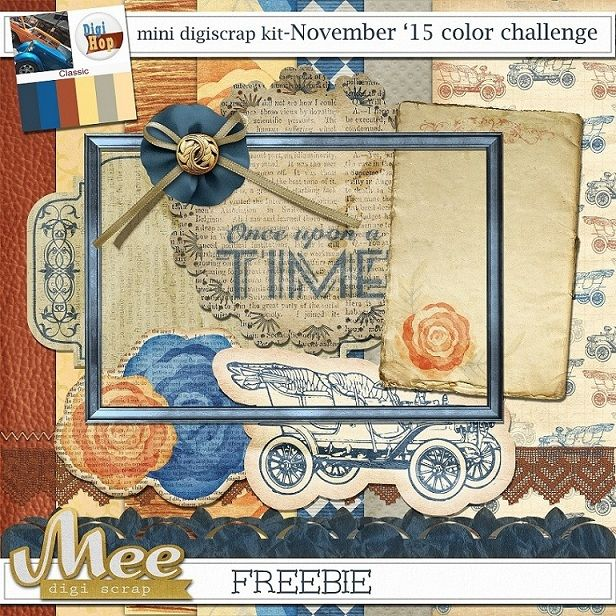 I downloaded the family one at the bottom of the page, not this one... Mee  scrapbook kits free download: Digi Hop color challenge September/November freebi...