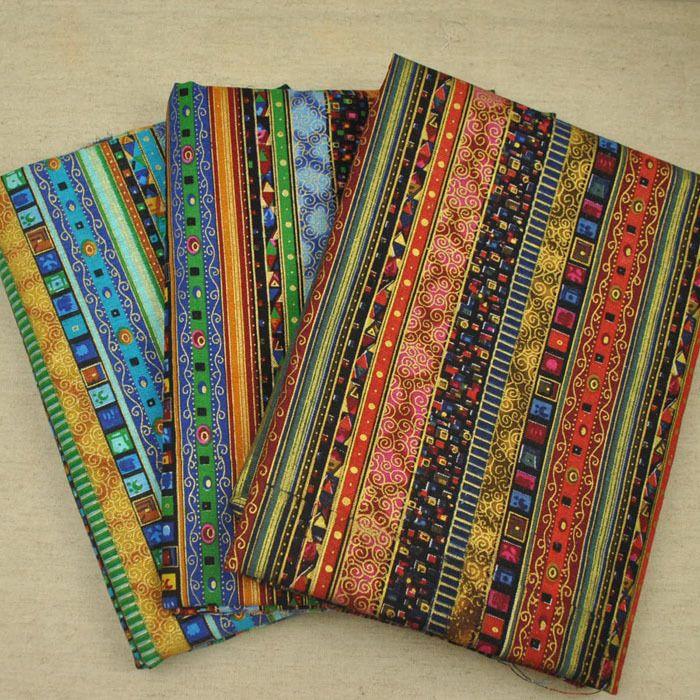 Étnico bronceado tela hechos a mano bricolaje algodón tela de algodón sofá de tela de cortina(China (Mainland))