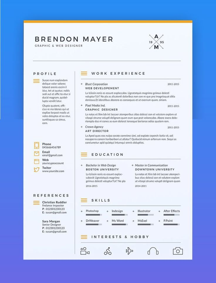 How to Make a Chronological Order Resume with Templates English