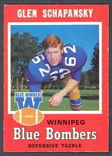 1971 OPC O PEE CHEE CFL FOOTBALL 29 GLEN SCHAPANSKY NM WINNIPEG BLUE BOMBERS