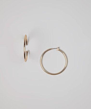 Look at this #zulilyfind! Gold Small Hoop Earrings #zulilyfinds
