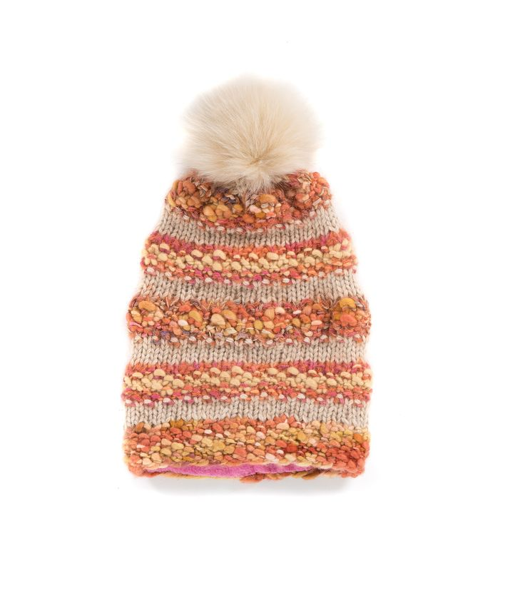 KNIT BEANIE CAP FOR WOMEN in Pumpkin - The GŌBLE Women Knit Beanie Cap is a luxurious soft blend of merino wool, alpaca, silk and mohair HAND KNIT IN CANADA  GOBLE.CA