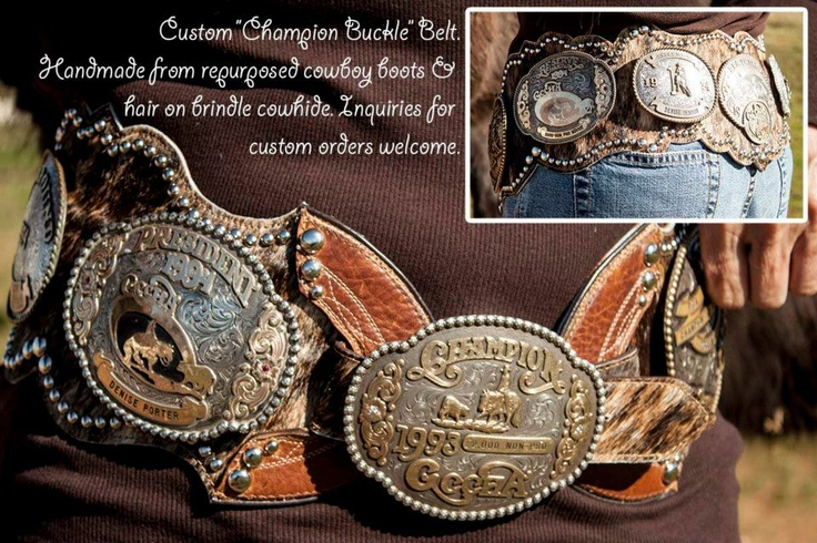 Killer belt to show off ALL your buckles. From Re-Ride Stories.