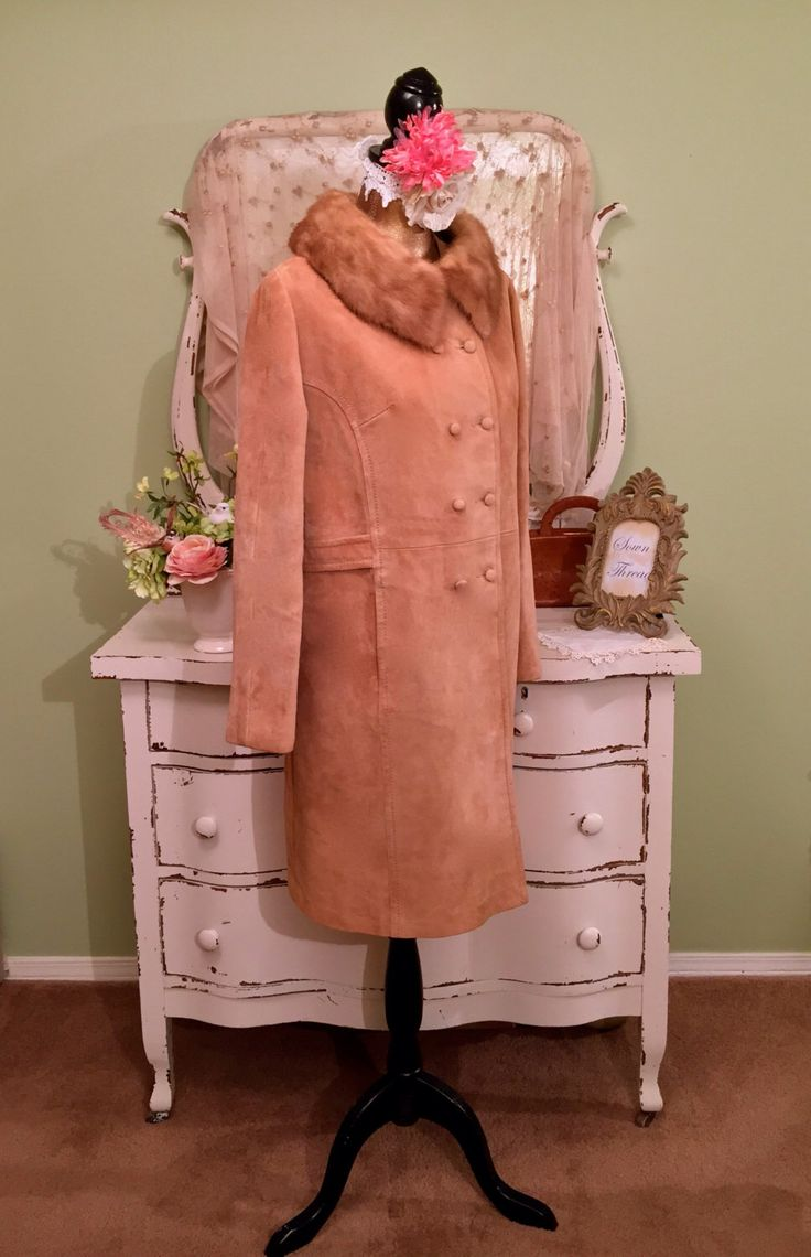 60s Blonde Mink Suede Coat, 1960s Suede Leather Coat, Long Winter Jacket, Custom Duster, Midcentury Coat, Womens Vintage Outerwear, Sz Large by SownThreadsClothing on Etsy https://www.etsy.com/listing/246767933/60s-blonde-mink-suede-coat-1960s-suede