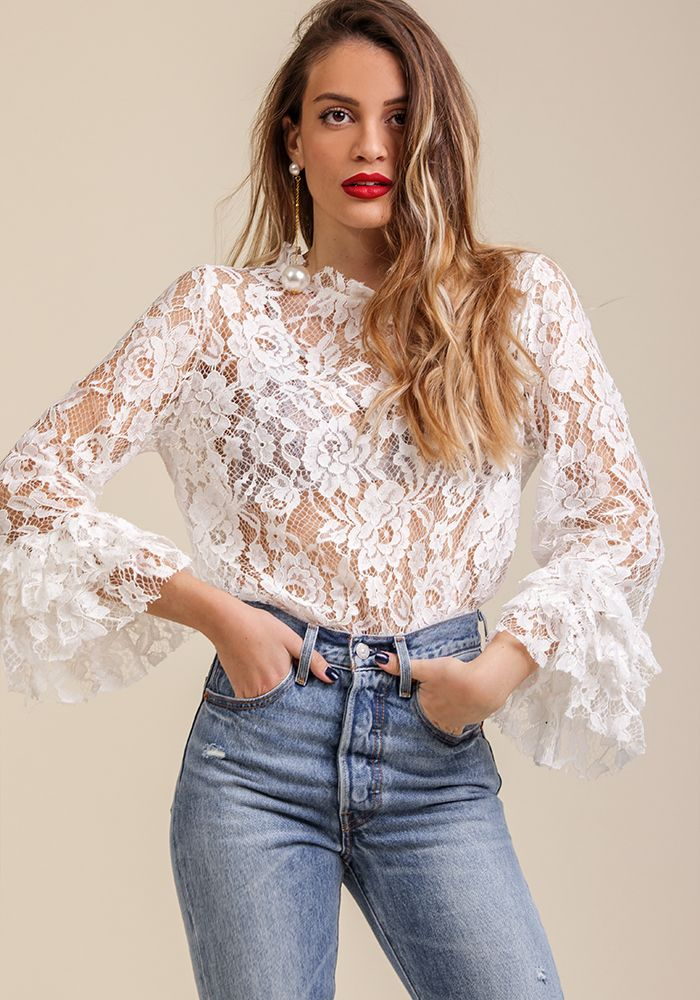 Walk Upon a Frill Top  by myfashionfruit.com