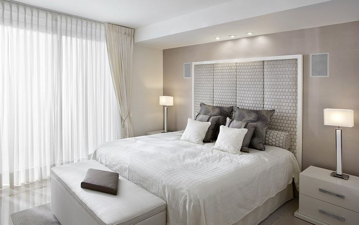 Neutral colours defining bedroom
