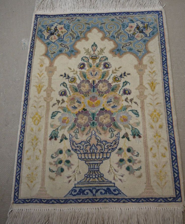 "NR: 19412 Location: Tabriz Size: 2'0"" x 1'5"" Country: Iran Pile: Wool+silk Base: Cotton"