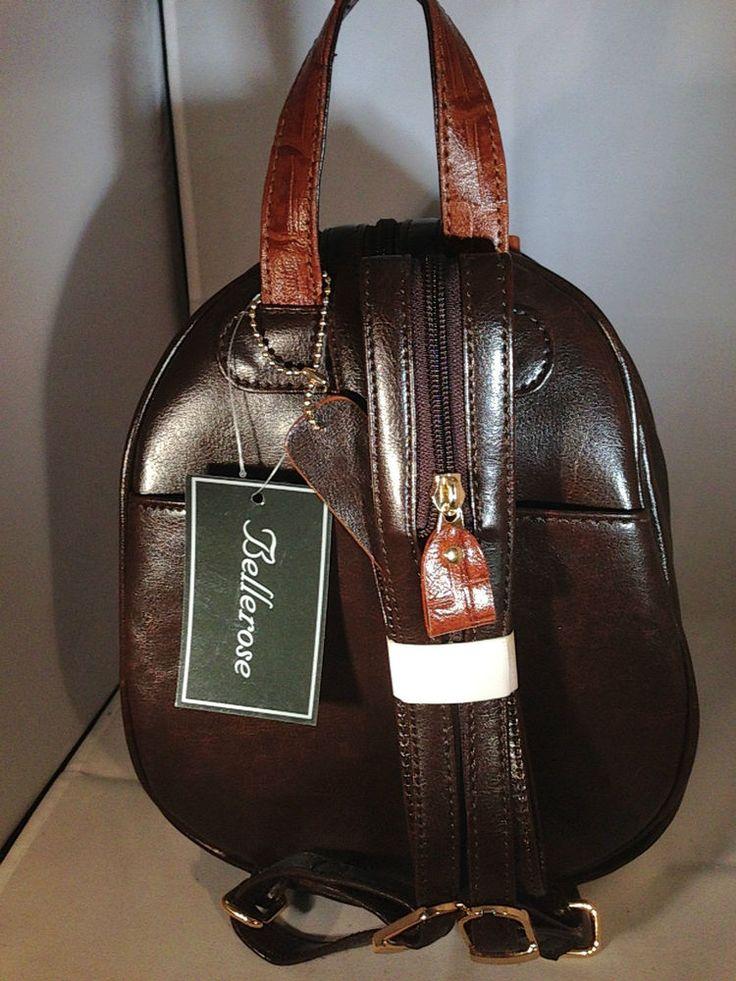 BELLEROSE LEATHER & MOCK BACKPACK PURSE Black | Backpack purse, Backpacks and Leather