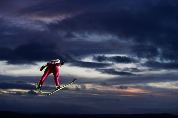 Piotr Zyla of Poland competes on Saturday in the men's large-hill ski jumping during the FIS Nordic World Ski Championships in Falun, Sweden.