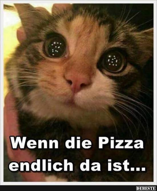 Wenn die Pizza endlich da ist..