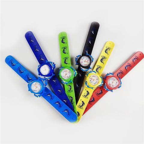 3D Cartoon Children's Watches Toy Watch Detachable Silicone Band Cartoon Dolphin Quartz WristWatchs Child Kid Clock Gift Relogio