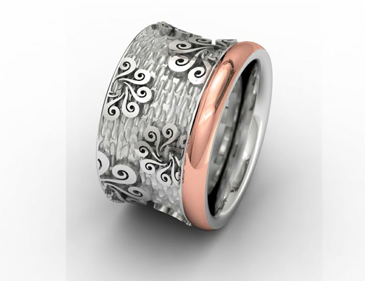 925 Sterling Silver Ring Pink 18k. Gold #bohemme #jewelry #cute #ring #style #fashion
