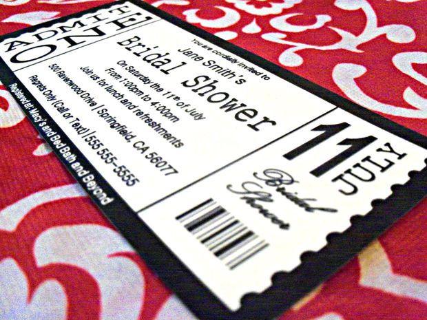 Ticket Invitation Designed in Powerpoint