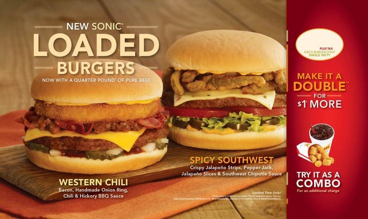 Loaded Super Sonic burgers!