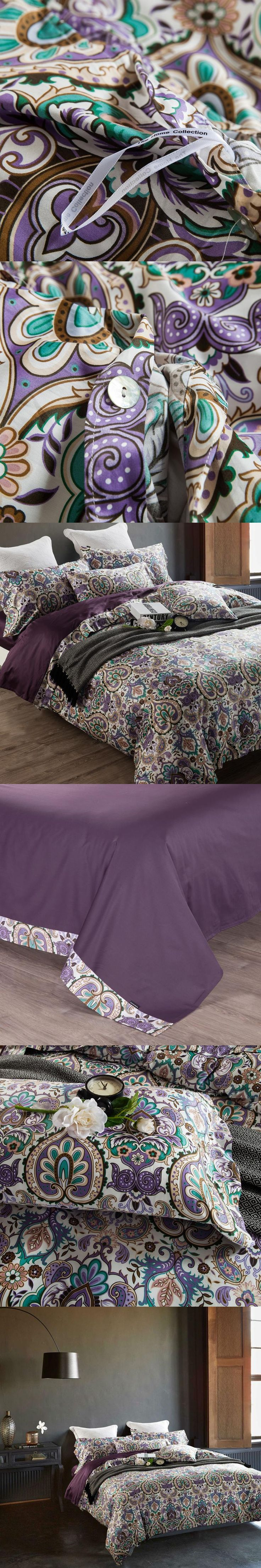 royal court style mandala pattern bedding sets floral linens Egyptian cotton Queen/Full/Double/King size duvet cover set
