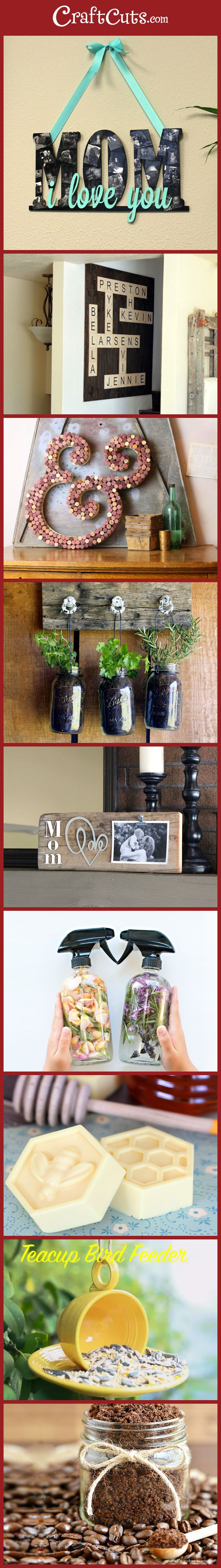 Simple DIY Gifts for Mother's Day! | Homemade Gifts for Mom | CraftCuts.com