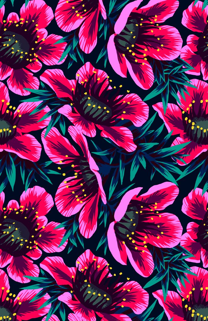 Manuka Floral Repeat Print on Behance