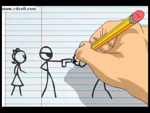 Animação em folha de papel.avi - YouTube