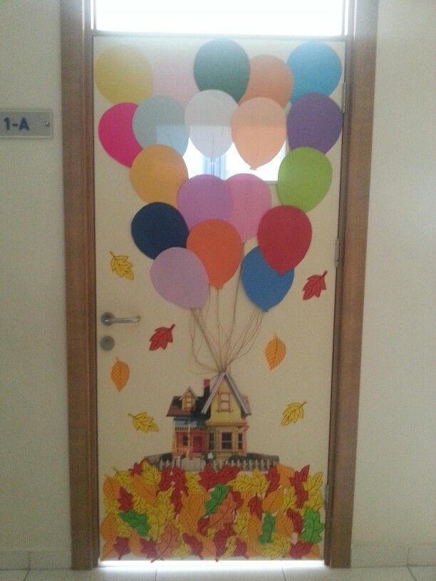 fall classroom door