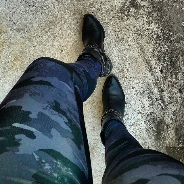 Shades of black, grey, navy